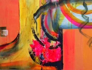 Safe spaces  acrylic on canvas, 60 x 80 cm, 2013