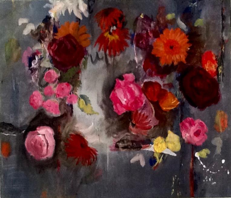 Disrupted  acrylic on canvas, Lynne Cameron 2014