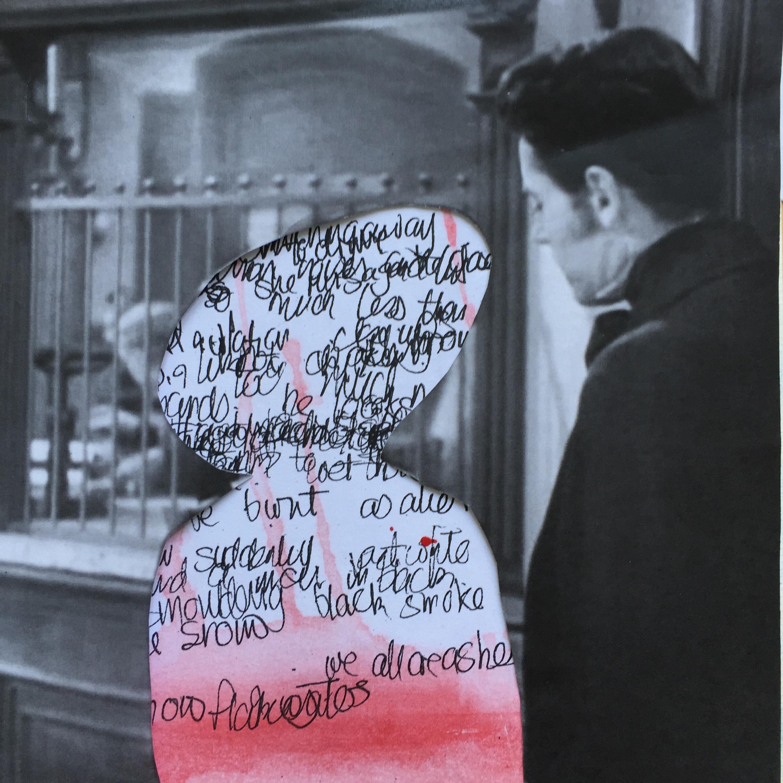 Film collage: Jezebel . 30 x 30 cm. Lynne Cameron, 2016