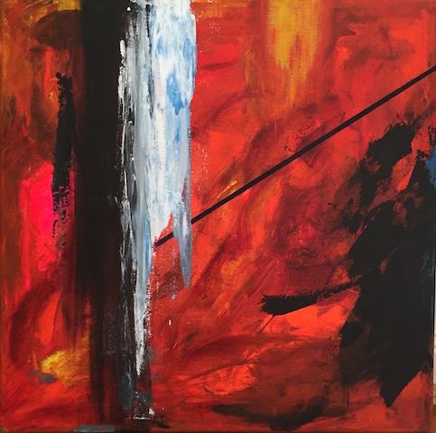 Sometimes it seemed so.  acrylic on canvas, 60 x 60 cm, framed. Lynne Cameron , 2016   £550