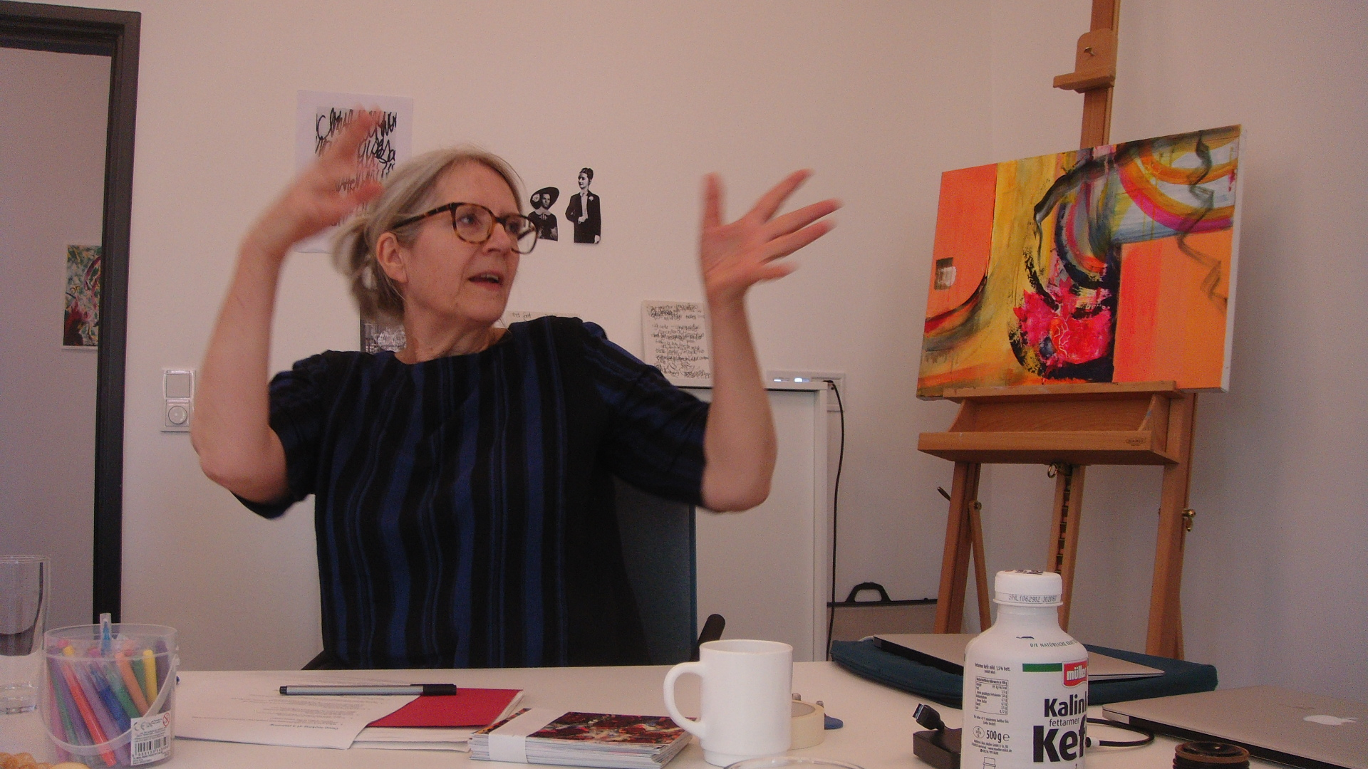Leading a workshop as artist-in-residence, Cinepoetics, Freie Universität, Berlin