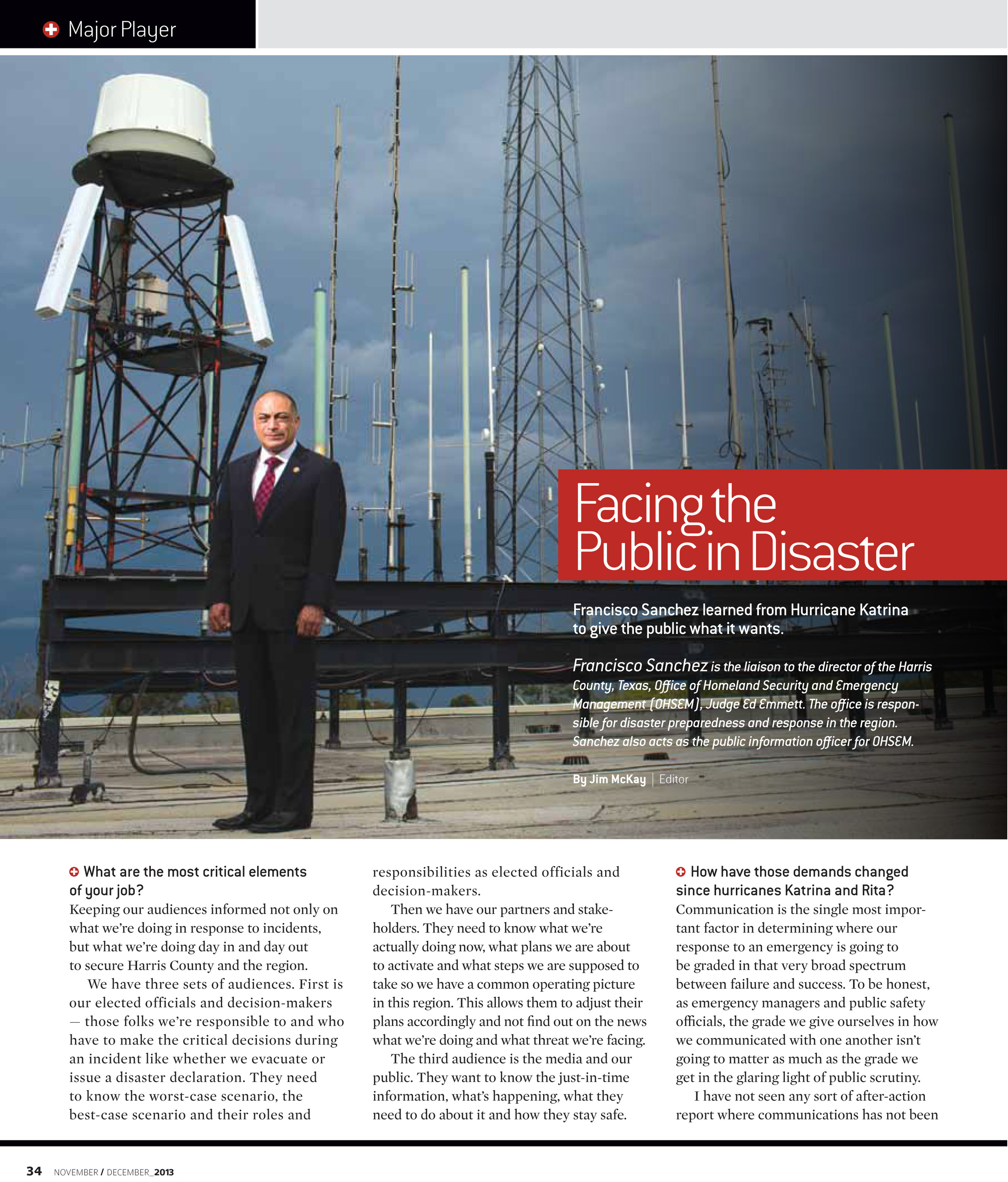Tearsheet from Emergency Management magazine