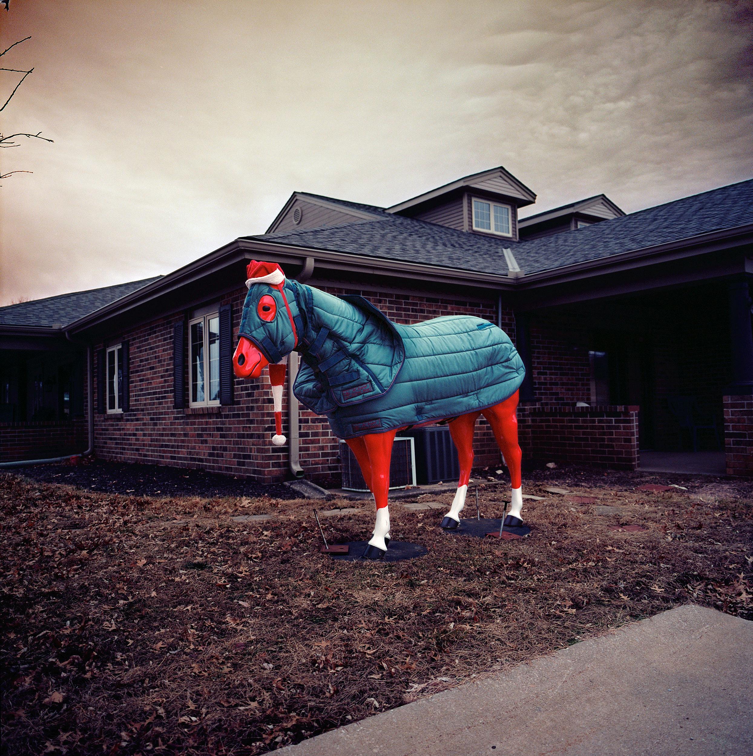 Santa horse, Louisburg, Kansas.