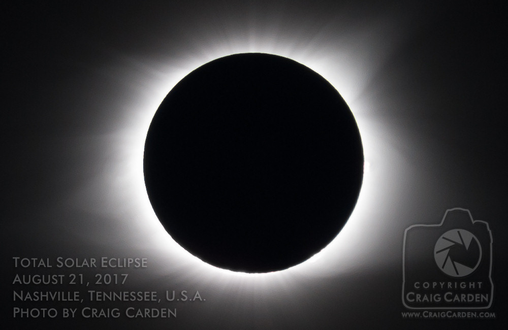 Here at last: Totality! A joyful cheer arose from the crowd in the park, as the sky slipped silently into darkness.