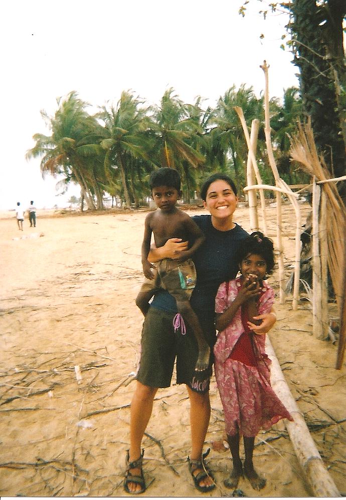 Jasmine with some local children.