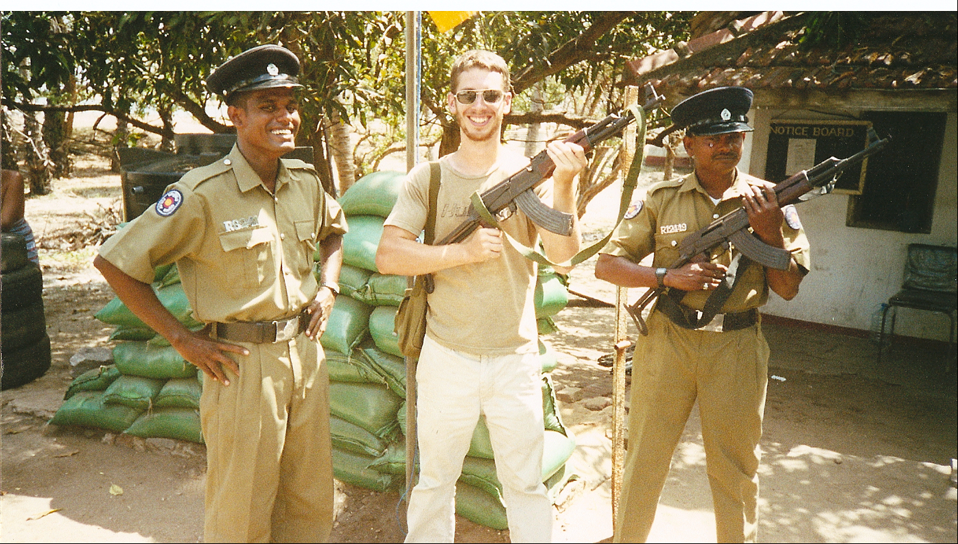 March 2005: Jeremy gets friendly with the local authorities.
