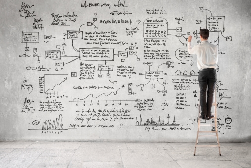 Step Ladder Guy making biz plan.JPG