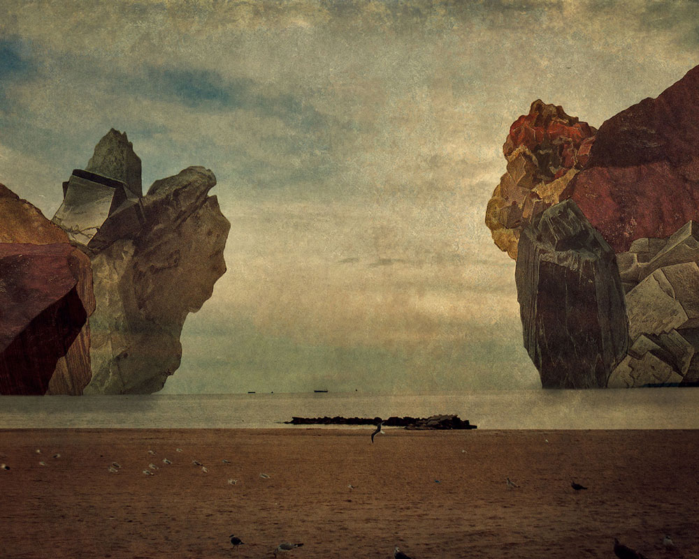 Seeking utopia - Through photomontage, digital manipulation, and the influences of various texts, Lilian Day Thorpe strives to portray what otherwise exists only in her imagination: elaborate, fantastical historical fictions,or memories of the past and visions of the future.