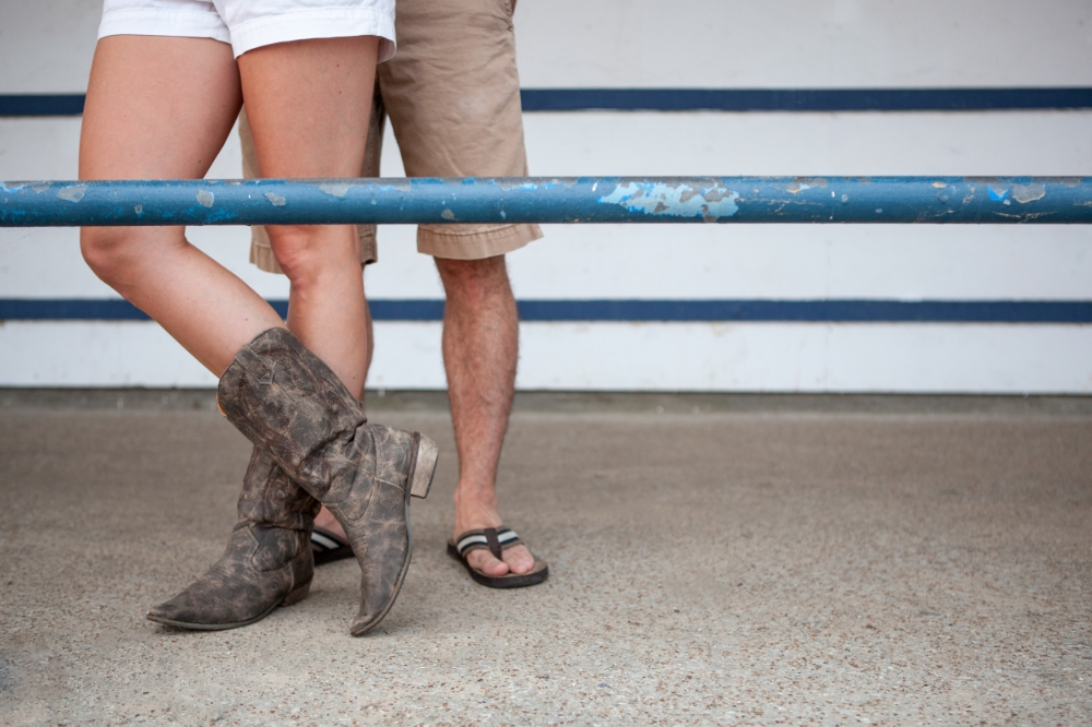 Cowboy boots and Flip Flops