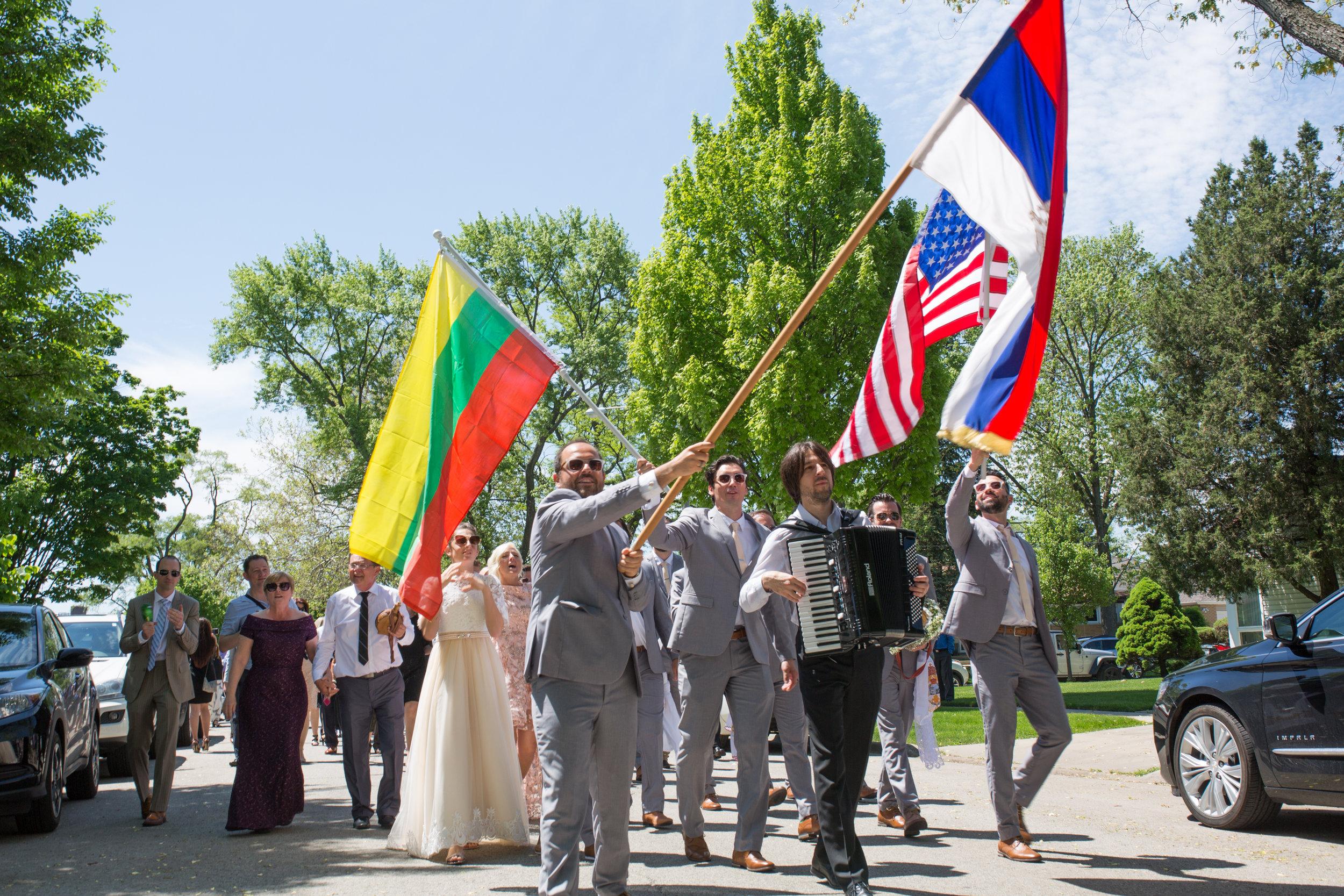 Chicago Serbian Wedding Parade