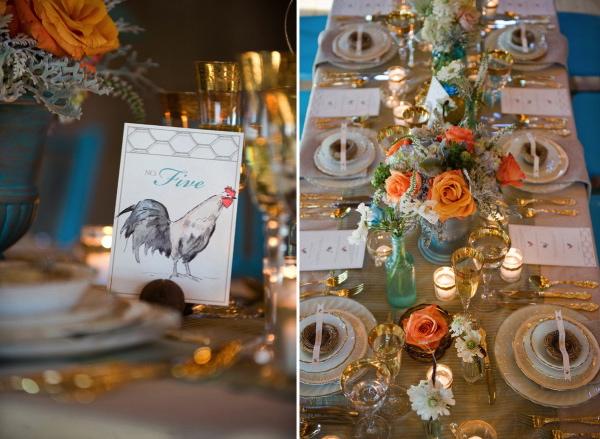 Maine Seasons Events barn wedding turquoise chairs photo Brea McDonald.jpg
