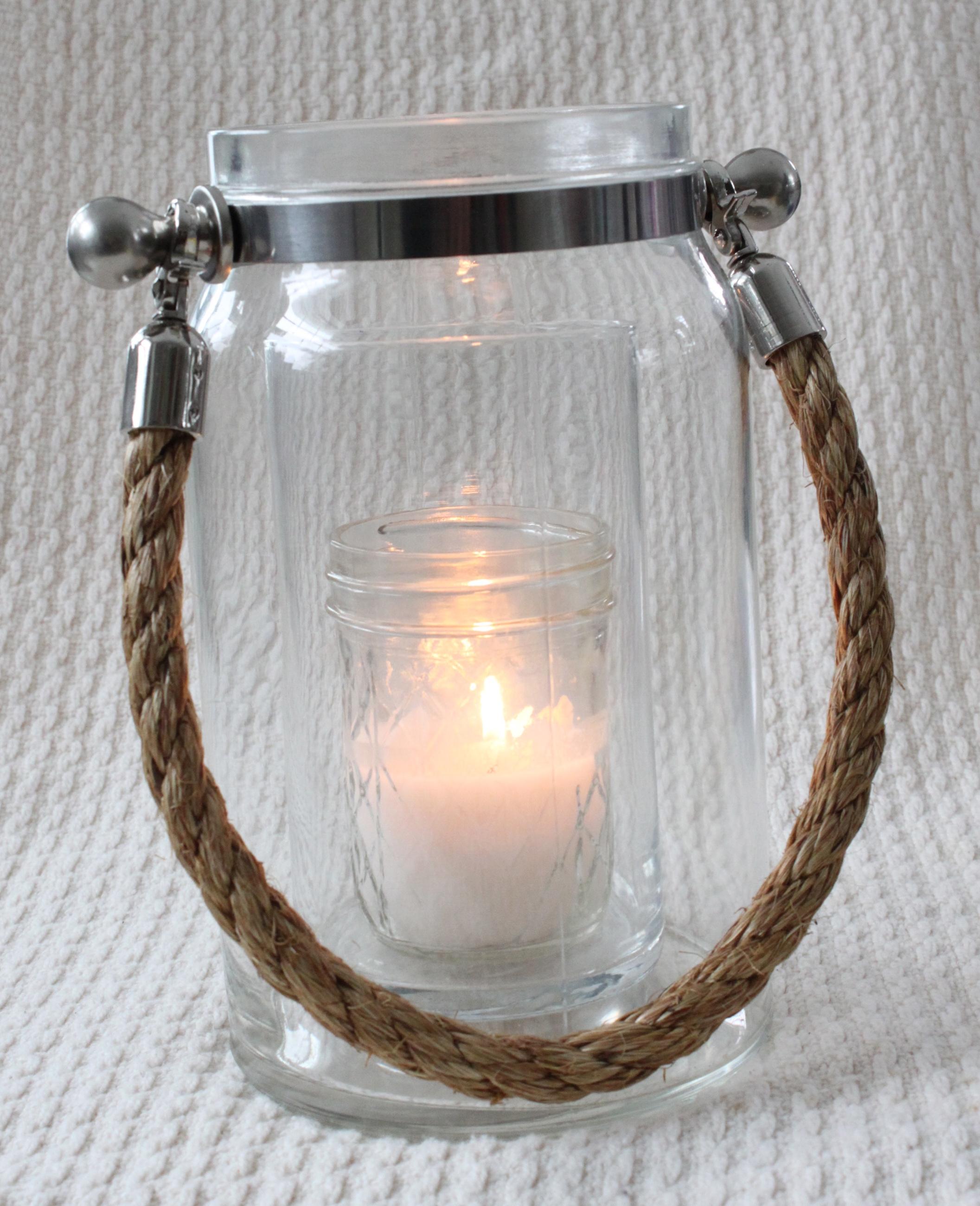 Rope handled lantern-large  $15 each