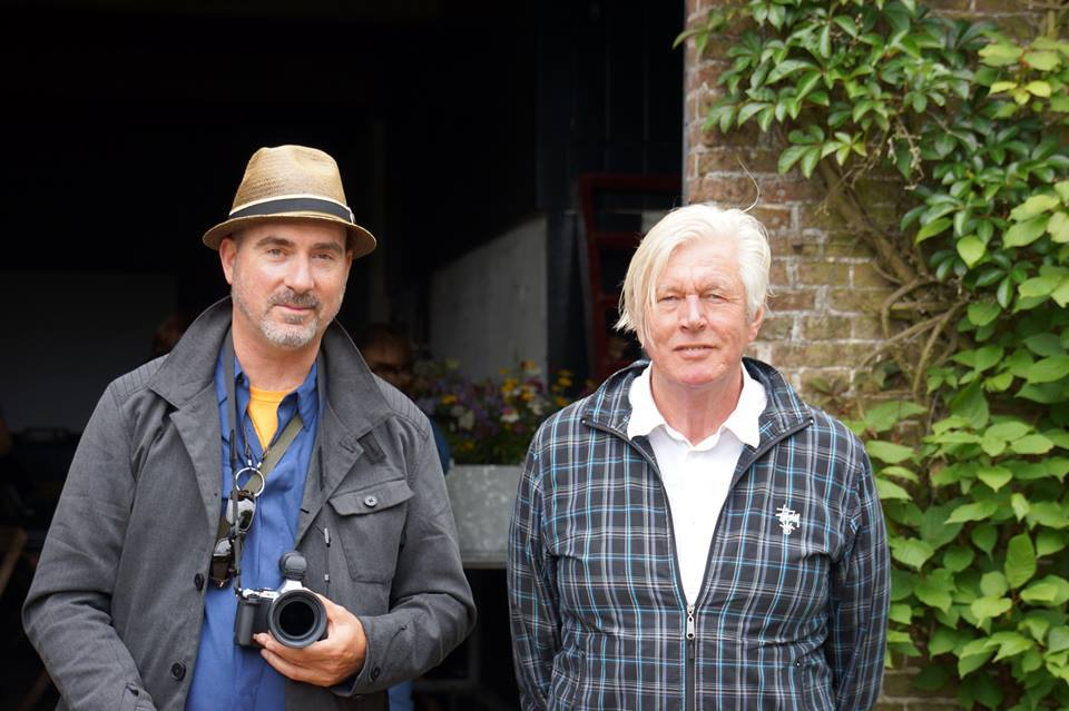 Tony Spencer (left) and Piet Oudolf (right) at Hummelo, Oudolf's home, this past summer. Photograph by Adam Woodruff