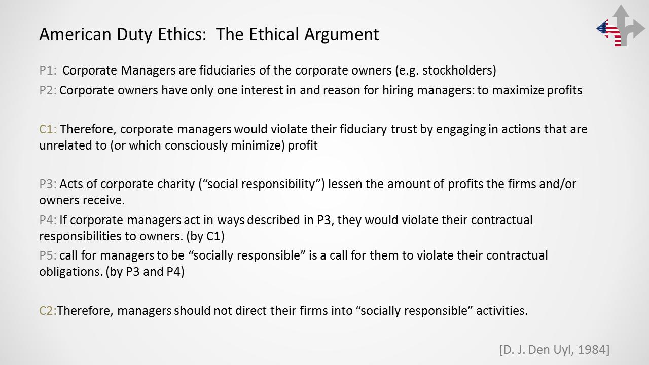 Friedman's moral argument -