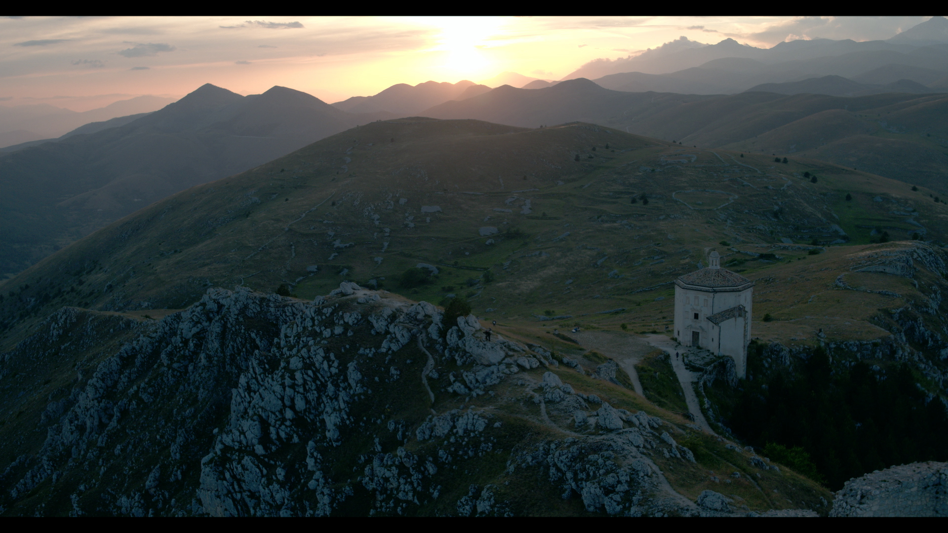 On location for OVERLAND in the mountains where many ancient armies passed on their way to invade Rome