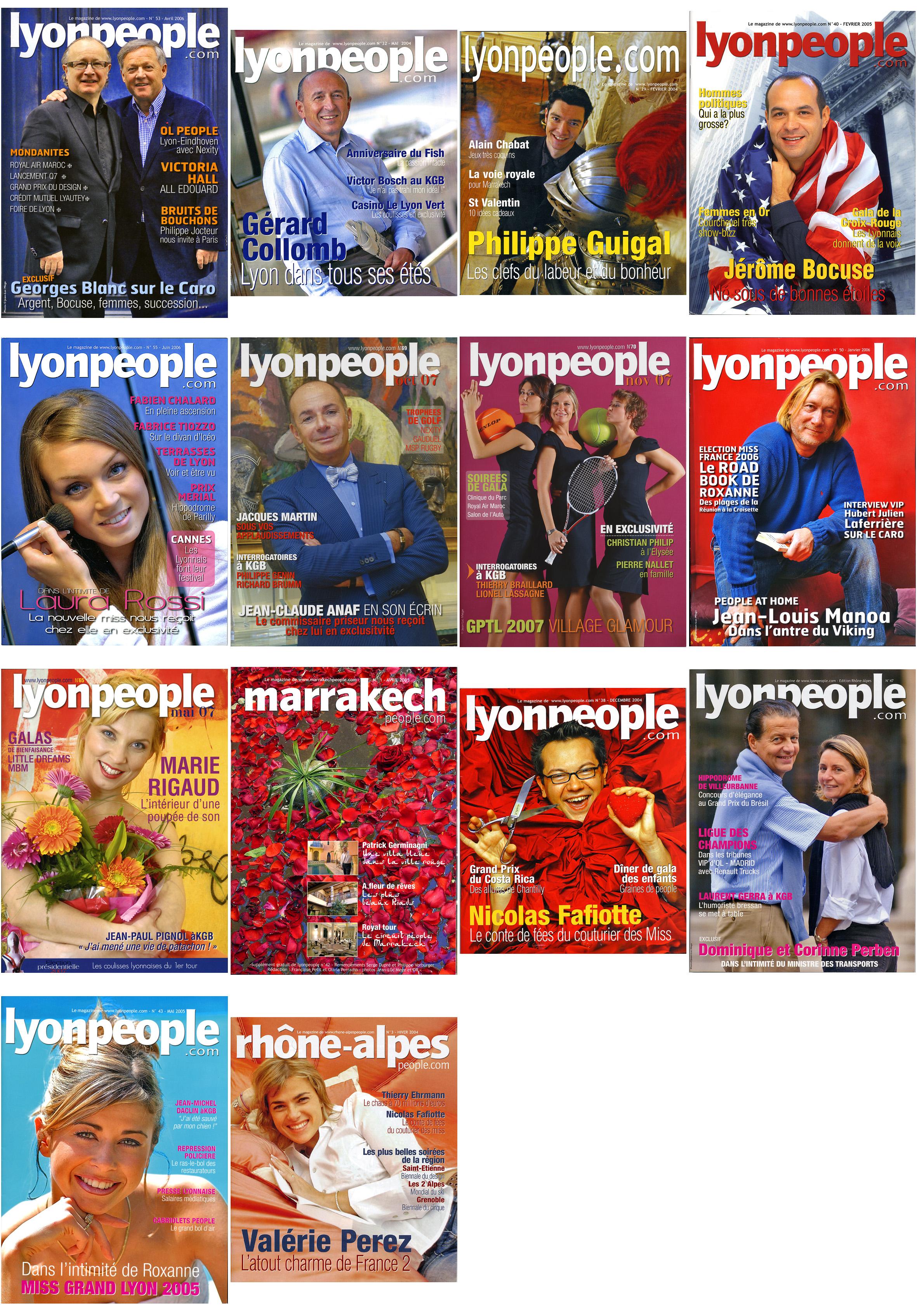 couvertures magazines lyon people