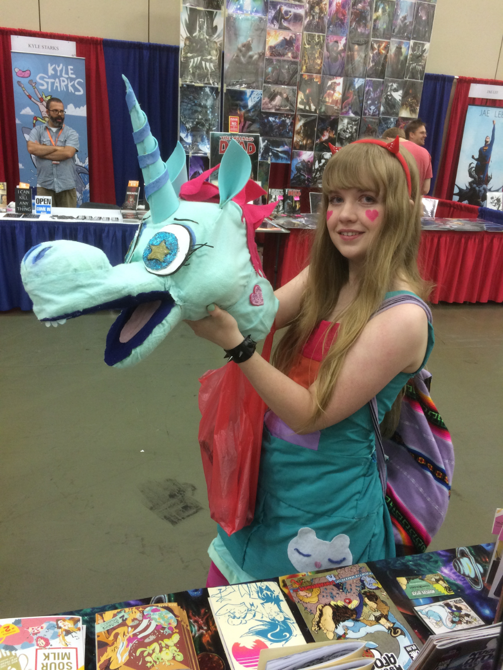 This kid wowed us her puppet she made of pony head from Star vs the Forces of Evil. Awesome sauce!
