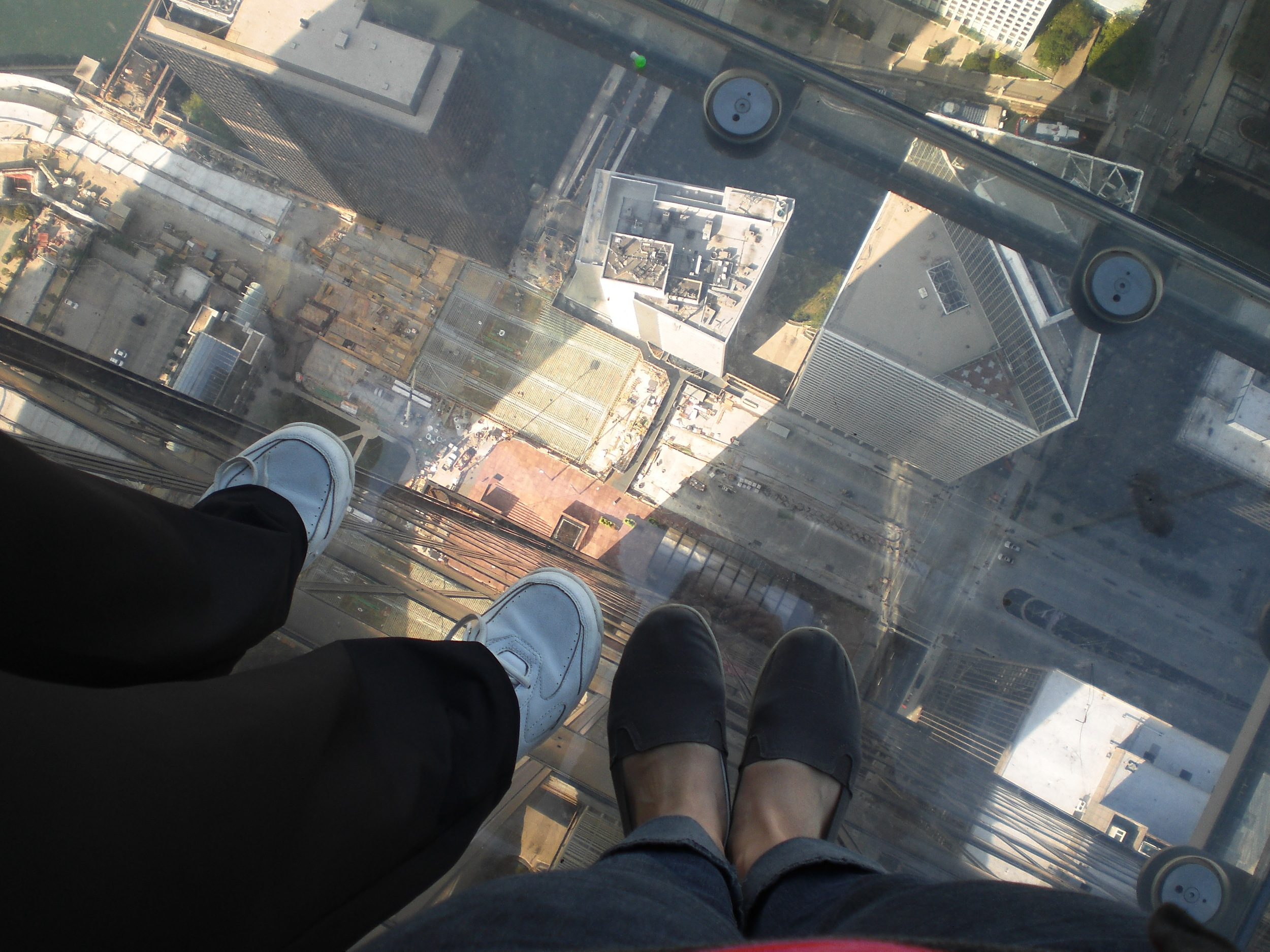 My mom and I on the Skydeck