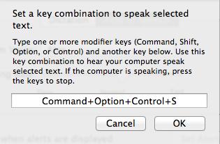 Set Keyboard combination prompt window.