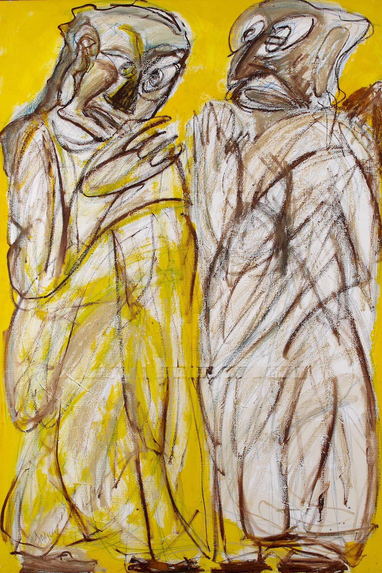 雙羅漢 Double Arhats   200 x 135 cm   2008   壓克力‧畫布 acrylic on canvas
