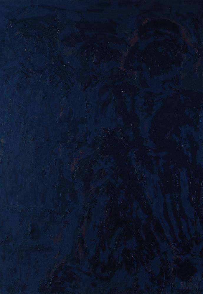 黑禪系列 - 三人 Black Zen Series - People of Three 91x72.5cm 2003 油畫‧畫布 oil on canvas.jpg