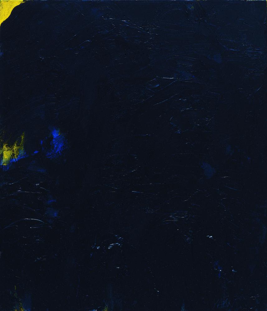 黑禪系列 - 山 Black Zen Series - Mountain 53x45.5cm 2000 油畫‧畫布 oil on canvas.jpg