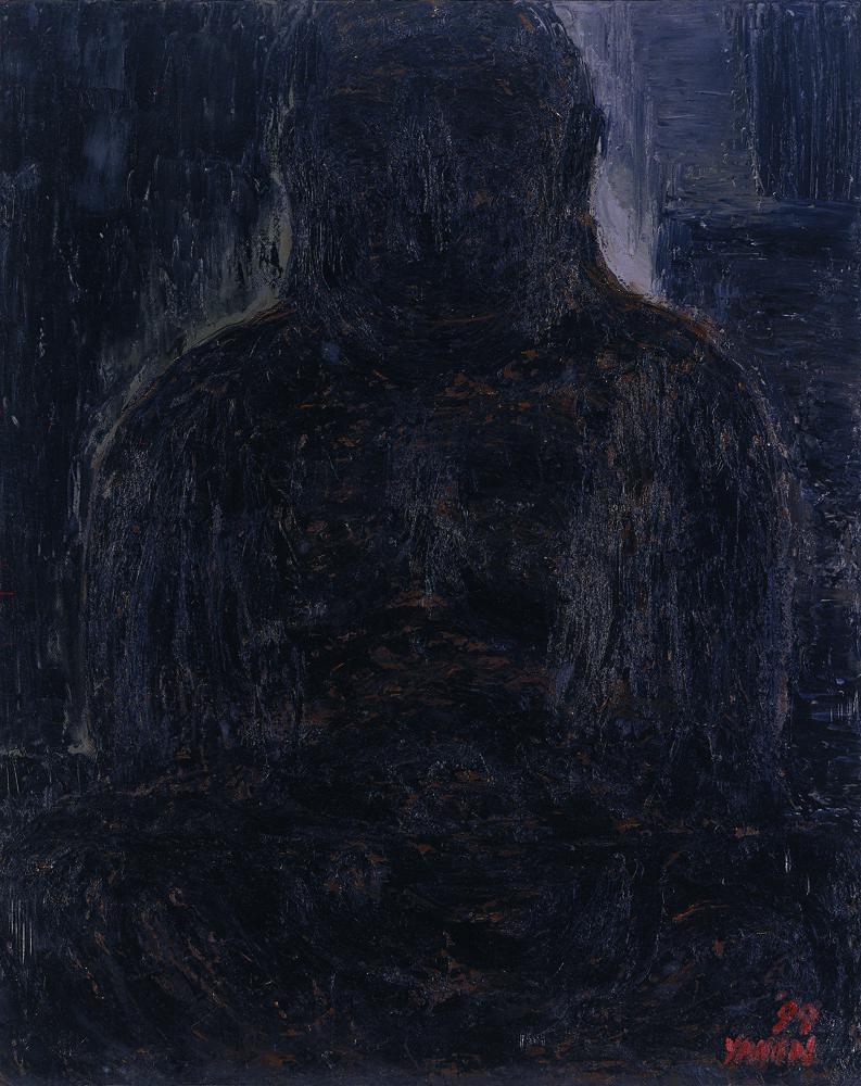 黑禪系列 - 先知 Black Zen Series - Prophet 100x80cm 1999 油畫‧畫布 oil on canvas.jpg