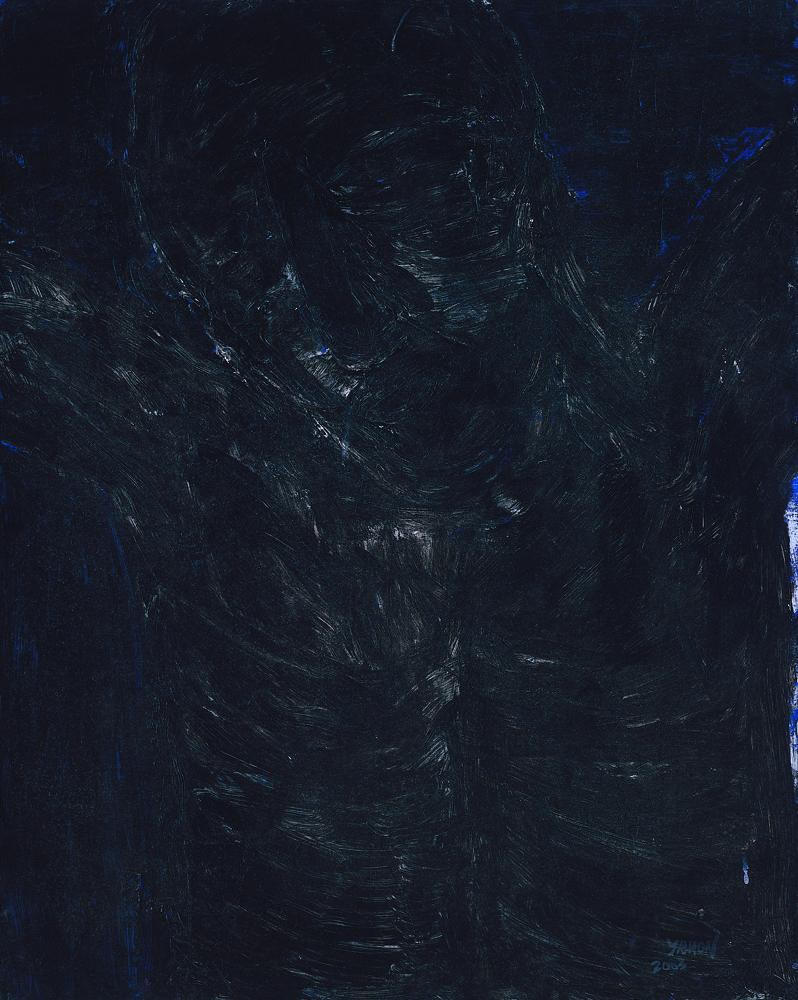 黑禪系列 - 耶穌 Black Zen Series - Jesus Christ 油畫‧畫布 oil on canvas.jpg