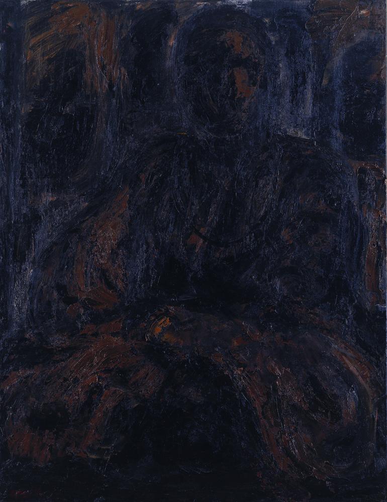 黑禪系列 - 師父 Black Zen Series - Mentor 53x45.5cm 1998 油畫‧畫布 oil on canvas.jpg