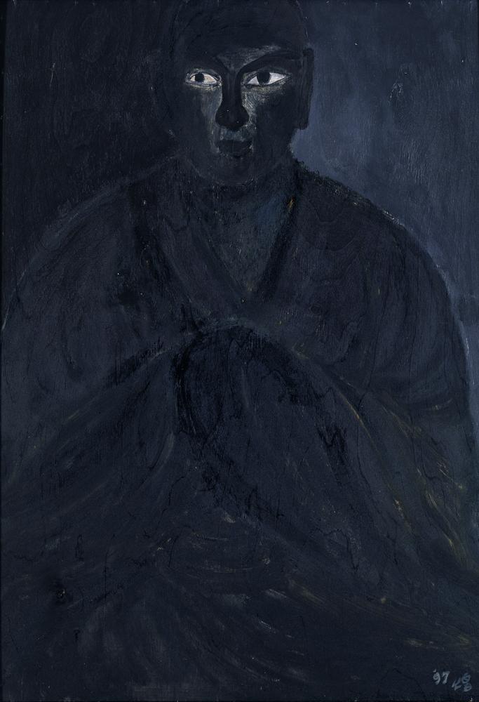 黑禪系列 - 師父 Black Zen Series - Mentor 1997 油畫‧畫布 oil on canvas.jpg