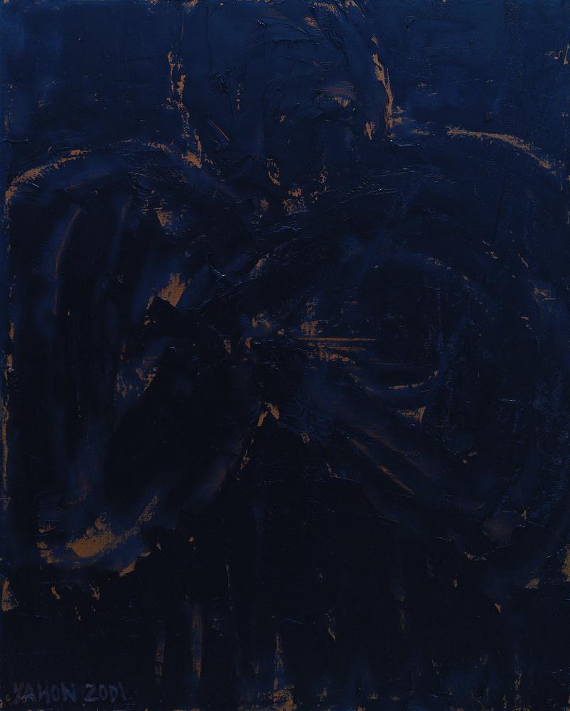 黑禪系列 - 意形 Black Zen Series - Meaning 100 x80cm 2001油畫‧畫布 oil on canvas.jpg