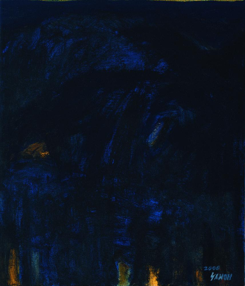 黑禪系列 - 森 Black Zen Series - Forest 72.5x61cm 2000 油畫‧畫布 oil on canvas.jpg