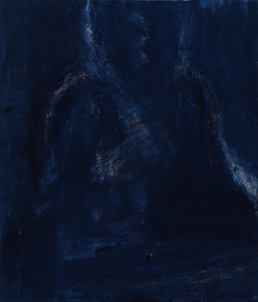 黑禪系列 - 靜 Black Zen Series - Repose 53x45.5cm 1999 油畫‧畫布 oil on canvas.jpg