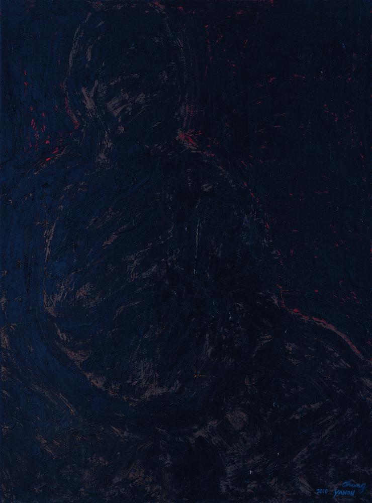 黑禪系列 - 靜 Black Zen Series - Repose 130.5x96.5cm 2000 油畫‧畫布 oil on canvas.jpg