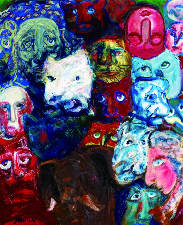 百面相 Faces 100x80cm 2011 壓克力‧畫布  Acrylic on canvas(1).jpg