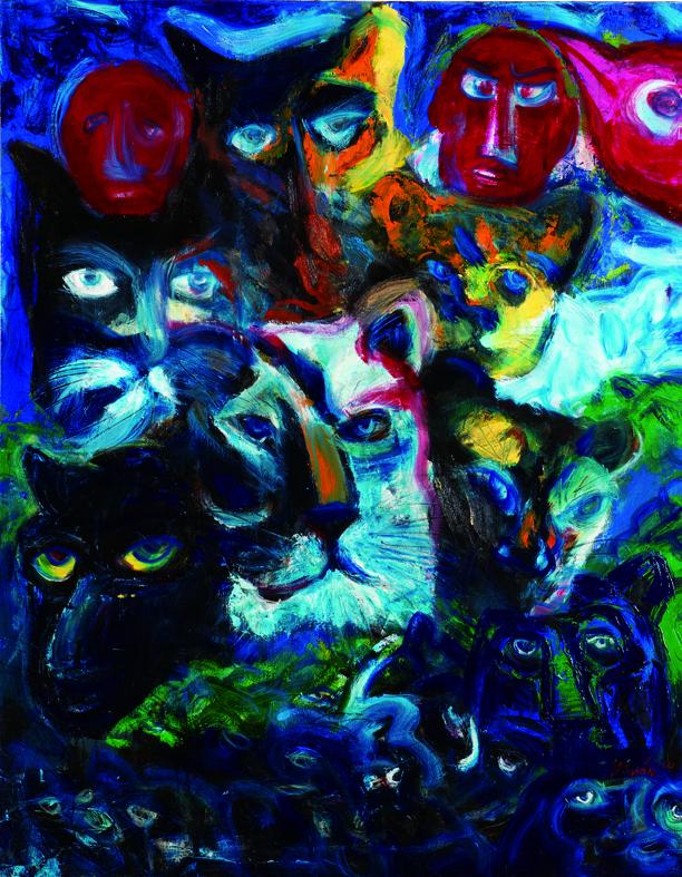 百面相 Faces 130x97cm 2011 壓克力‧畫布  Acrylic on canvas(7).jpg