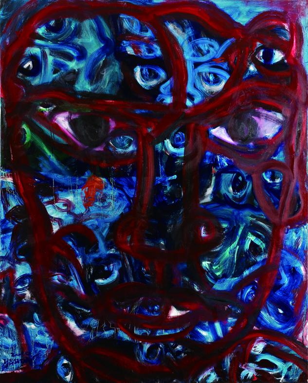 百面相 faces 162x130cm (Red).jpg