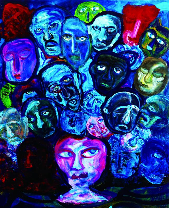 百面相 Faces 162x130cm 2011 壓克力‧畫布  Acrylic on canvas(2).jpg