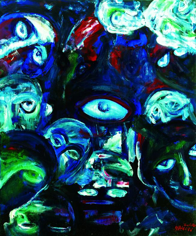 百面相 Faces 162x130cm 2011 壓克力‧畫布  Acrylic on canvas(6).jpg