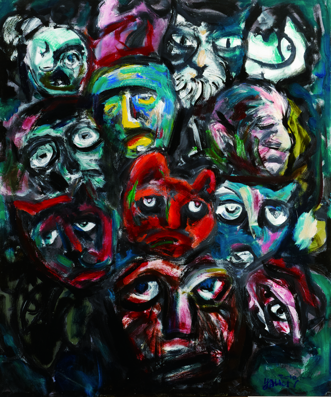 百面相 Faces 162x130cm 2011 壓克力‧畫布  Acrylic on canvas(8).jpg
