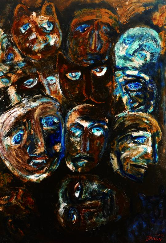 百面相 Faces 200x135cm 2011 壓克力‧畫布  Acrylic on canvas(1).jpg
