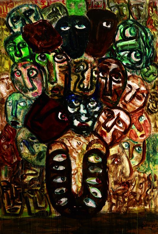百面相 Faces 200x135cm 2011 壓克力‧畫布  Acrylic on canvas(4).jpg