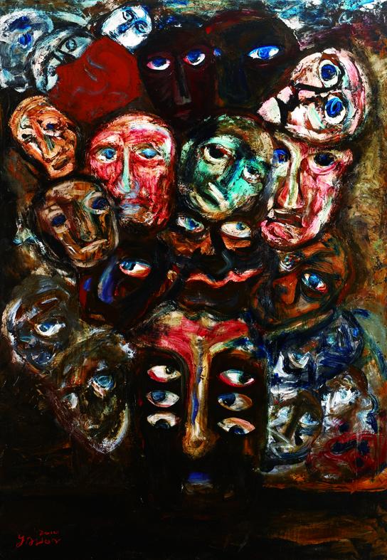 百面相 Faces 200x135cm 2011 壓克力‧畫布  Acrylic on canvas(5).jpg