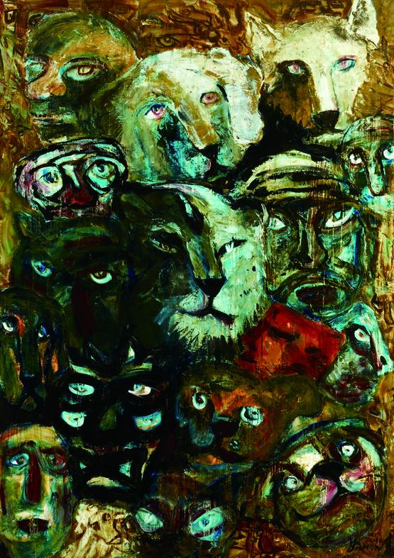 百面相 Faces 200x135cm 2011 壓克力‧畫布  Acrylic on canvas(6).jpg