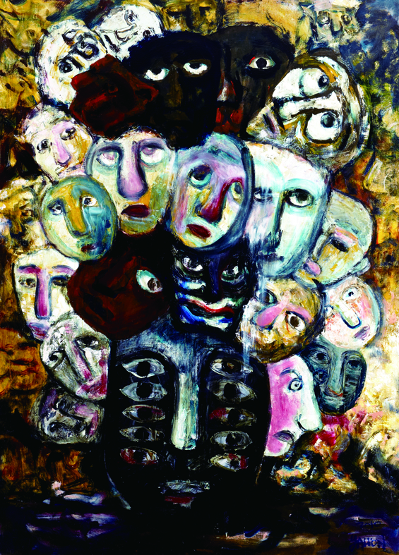 百面相 Faces 200x135cm 2011 壓克力‧畫布  Acrylic on canvas(7).jpg