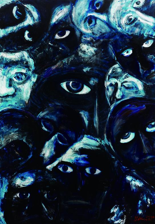 百面相 Faces 200x135cm 2011 壓克力‧畫布  Acrylic on canvas(11).jpg