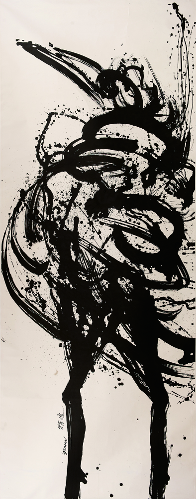 動物系列 - 母雞 Animal Series - Hen 387x165cm 2011 水墨‧宣紙  Chinese ink on rice paper.jpg