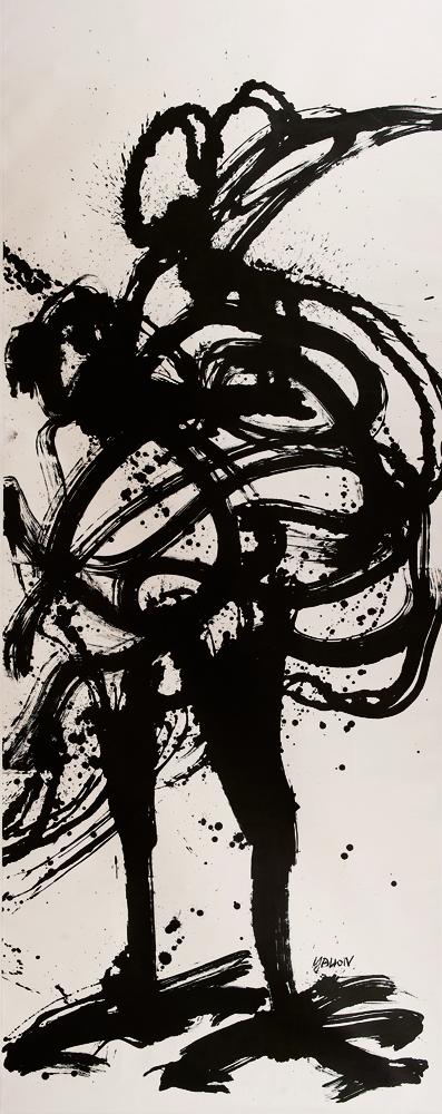 動物系列 - 公雞 Animal Series - Chicken 387x165cm 2011 水墨‧宣紙  Chinese ink on rice paper.jpg
