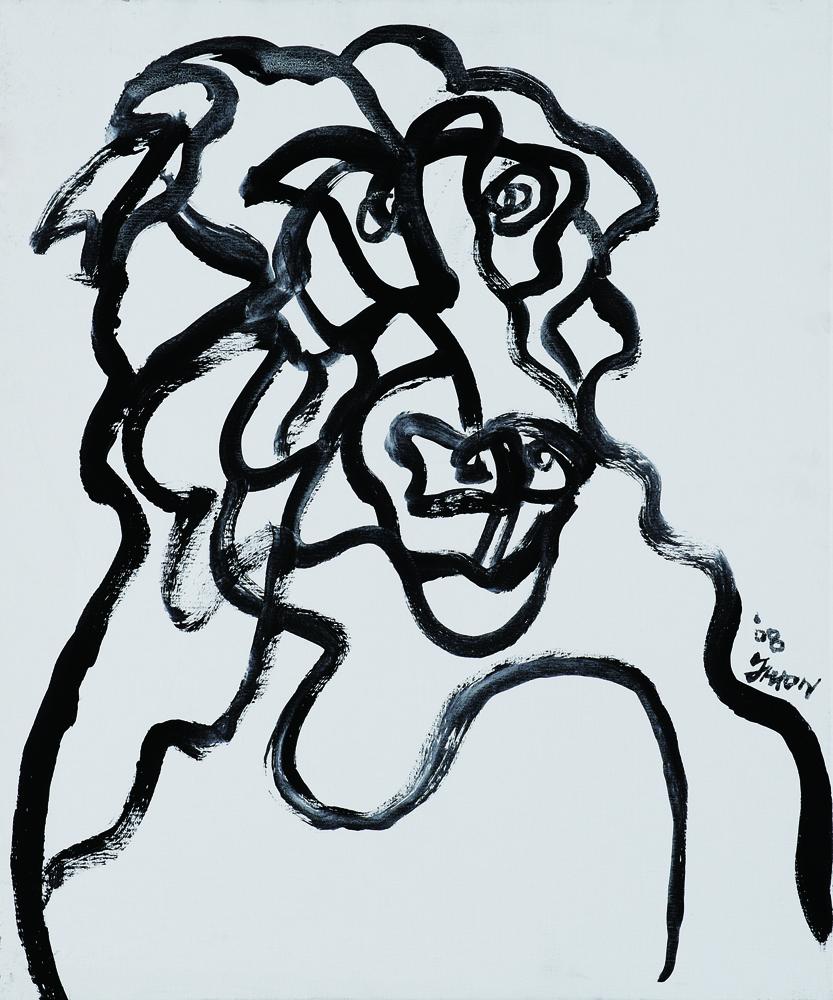 動物系列 - 猴 Animal Series - Monkey 72.5x61cm 2007 壓克力‧畫布 Acrylic on Canvas (1).jpg