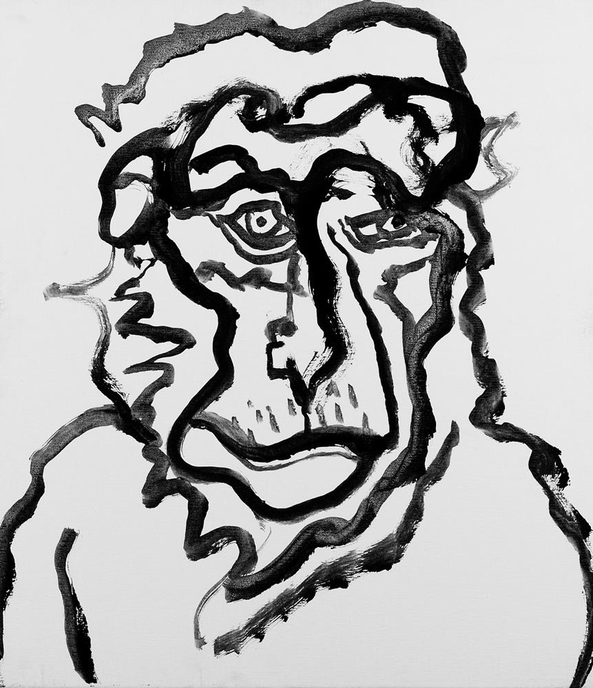動物系列 - 猴 Animal Series - Monkey 72.5x61cm 2007 壓克力‧畫布 Acrylic on Canvas (34).jpg